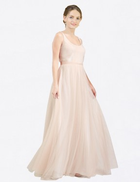 Shop A-Line Scoop Long Floor Length Pink Lily Bridesmaid Dress Townsville