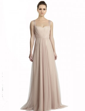 Shop A-Line Square Long Floor Length Nude Jeilyn Bridesmaid Dress Townsville