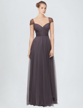 Shop A-Line Sweetheart Long Floor Length Pewter Alena Bridesmaid Dress Townsville