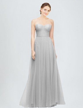 Shop A-Line Sweetheart Long Floor Length Silver Emory Bridesmaid Dress Townsville