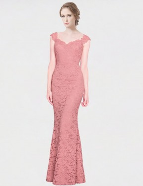 Shop Mermaid Fit and Flare Strapless Sweetheart Long Floor Length Pink Paola Bridesmaid Dress Townsville