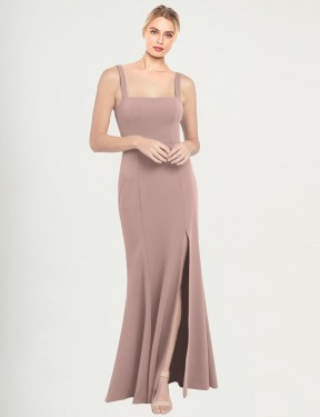 Shop Mermaid High Neck Square Long Floor Length Dusty Pink Fernella Bridesmaid Dress Townsville
